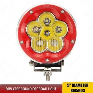 Image 3 - Ledワークライト5インチコンボライト60ワットオフロード4 × 4 ledスポットライト洪水ドライビングワークライト用suvトラックボート12ボルト24ボルトsuv atv x1