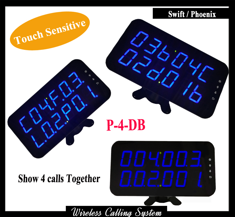 Wireless Waiter Display Receiver For Restaurant wireless calling system show 3 group calls Can work with Waiter call button restaurant wireless table bell system ce passed restaurant made in china good supplier 433 92mhz 2 display 45 call button