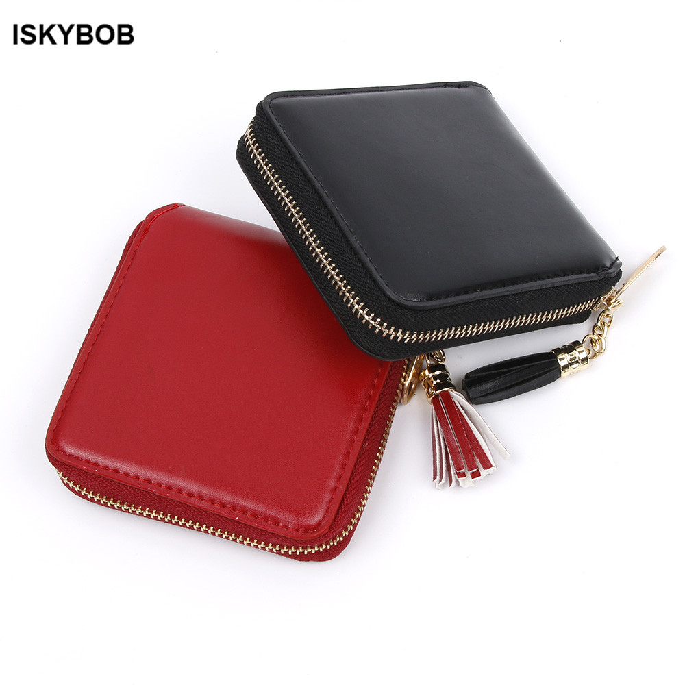 1PC Fashion Women Lady PU font b Leather b font Clutch Wallet Mini Card Holder Purse