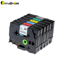 Greateam 6pcs Compatible Brother P-Touch TZ TZe Laminated Label Tape TZe231 TZe431 TZe531 TZe631 TZe731 TZe931 for Label Printer