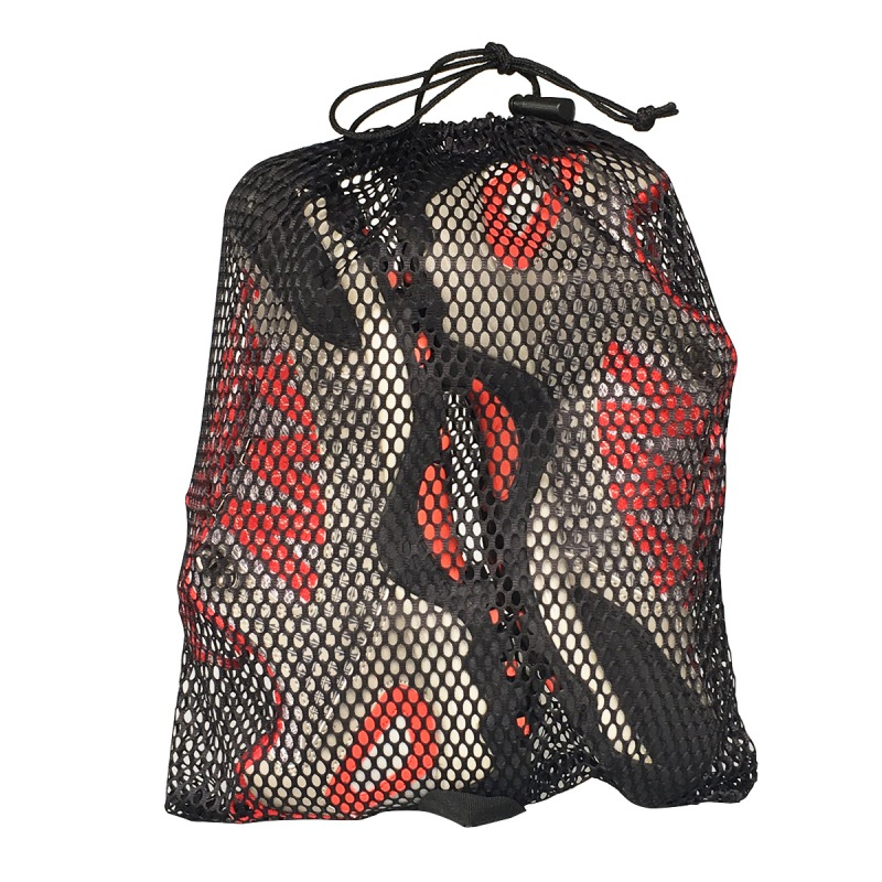 2Pcs Outdoor Drawstring Storage Bag Cover Polyester Mesh Hanging Cover Climbing Hiking Organization Accessories