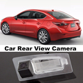 Câmera do carro para Mazda 3 M3 Axela BM 4D Sedan 2013 ~ 2015 de alta qualidade vista traseira câmera para Top de amigos | CCD com RCA