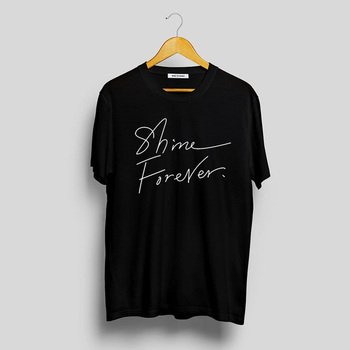 Shinee Forever Kpop T-Shirt k-pop Merch Shinee World T Shirt mężczyźni kobiety Casual Jonghyunt koszule koreański stylowe topy