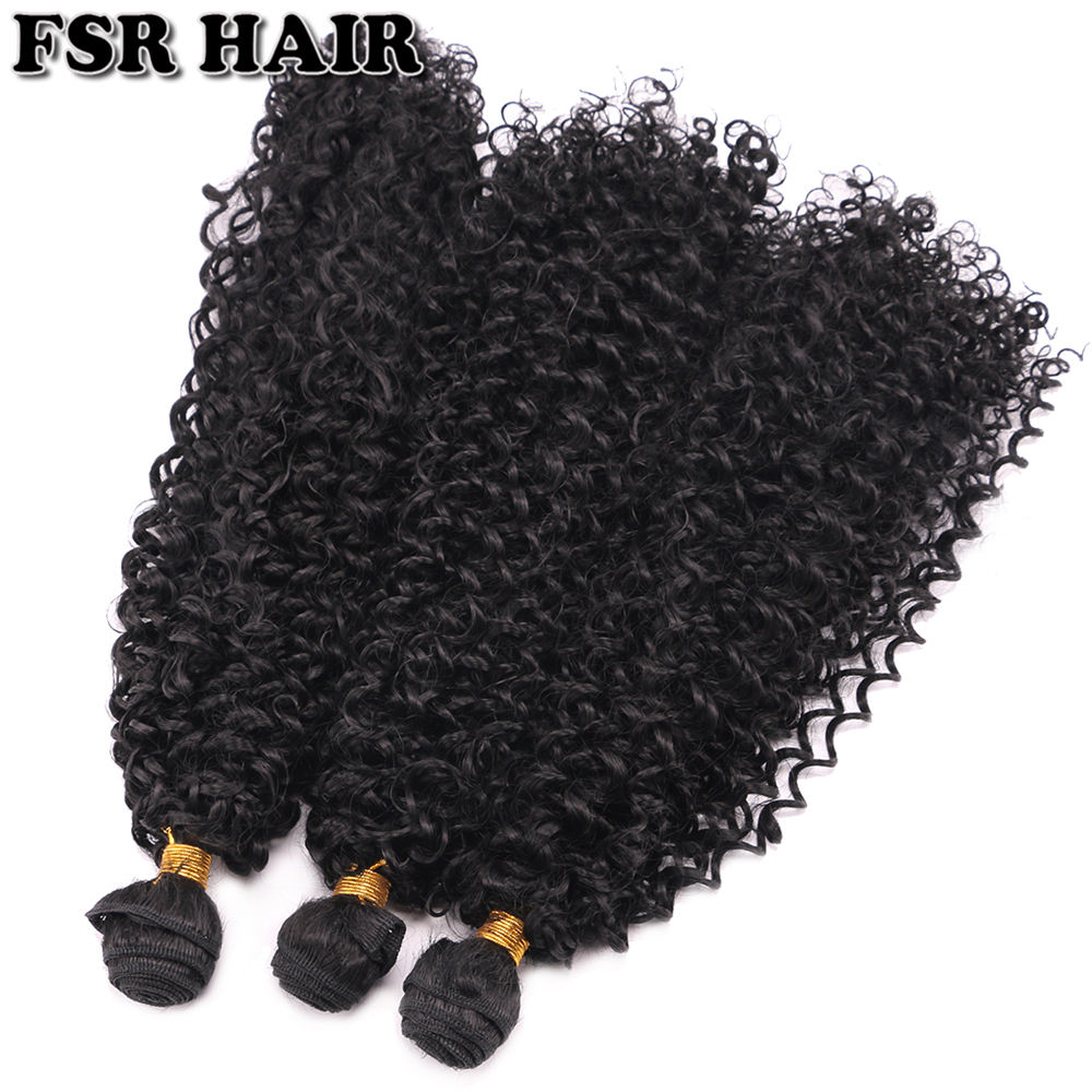 FSRHAIR 100 Gram One Piece Kinky Curly Hair Extension 16-30 Inch Black Color Fiber