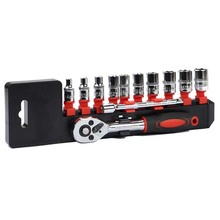 "1/4""12 in 1 Torque And Ratchet Wrench Set Repair Tools For Vehicle Bicycle Bike Socket Wrench Kit Tool YB328-SZ"