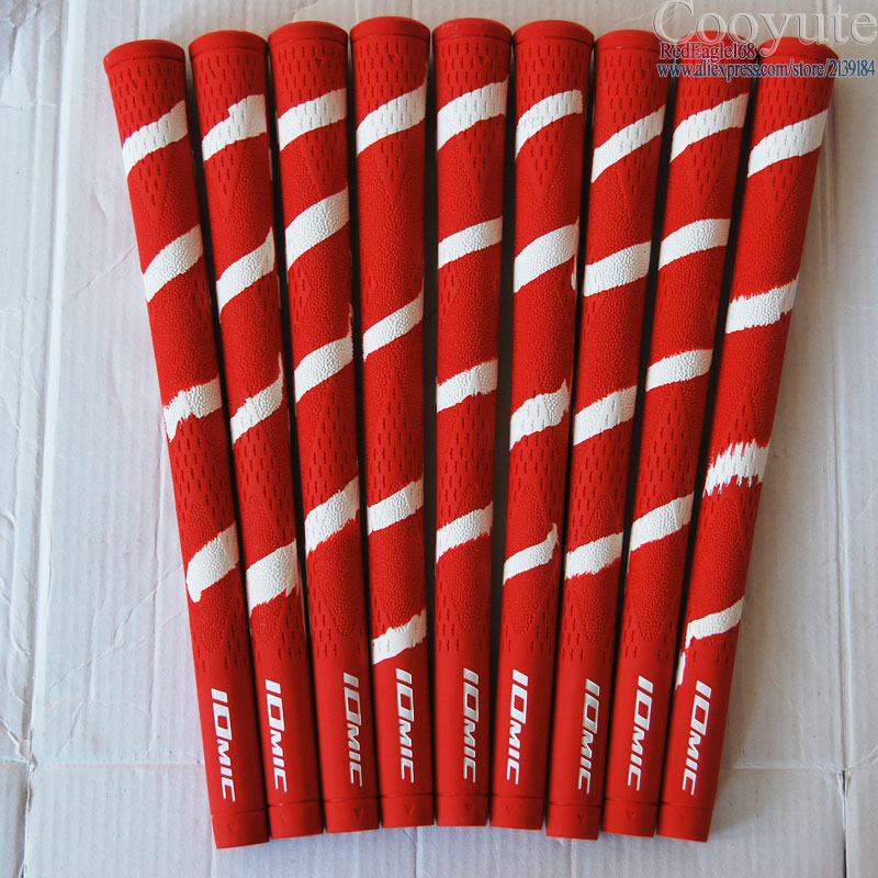 Wholesale 9pcs/lot Cooyute Golf Grips High Quality Rubber IOMIC Golf Wood Grips 10colors Golf Irons Grips Free Shipping