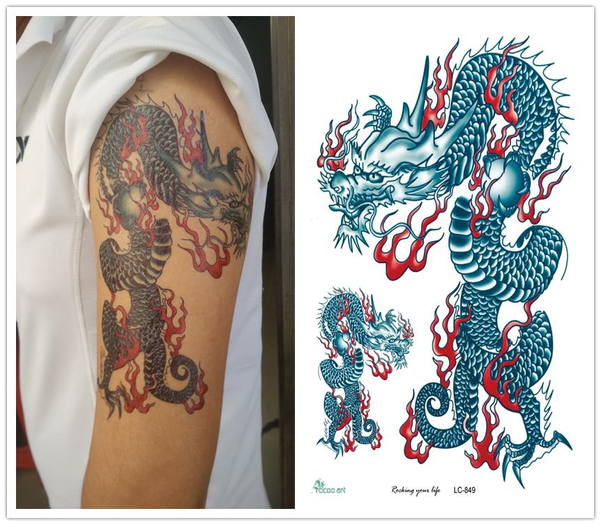 Online buy wholesale chinese dragon tattoo from china for Temporary tattoo sticker