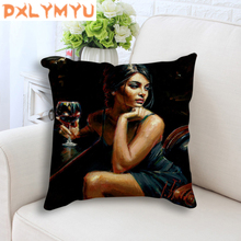 Cushion Home Decor Sexy Lady image Printed Linen Pillowcase Throw Pillow Decorative Pillows for Sofa Living Room Decoration все цены