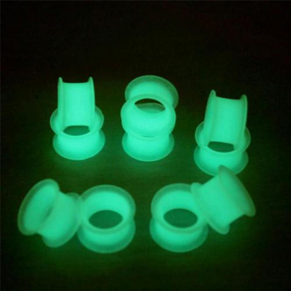 1 stück Velishy Neue 1 Stück glow in the dark trommel ohr expansion piercing ohr defender ohrstöpsel und tunnel