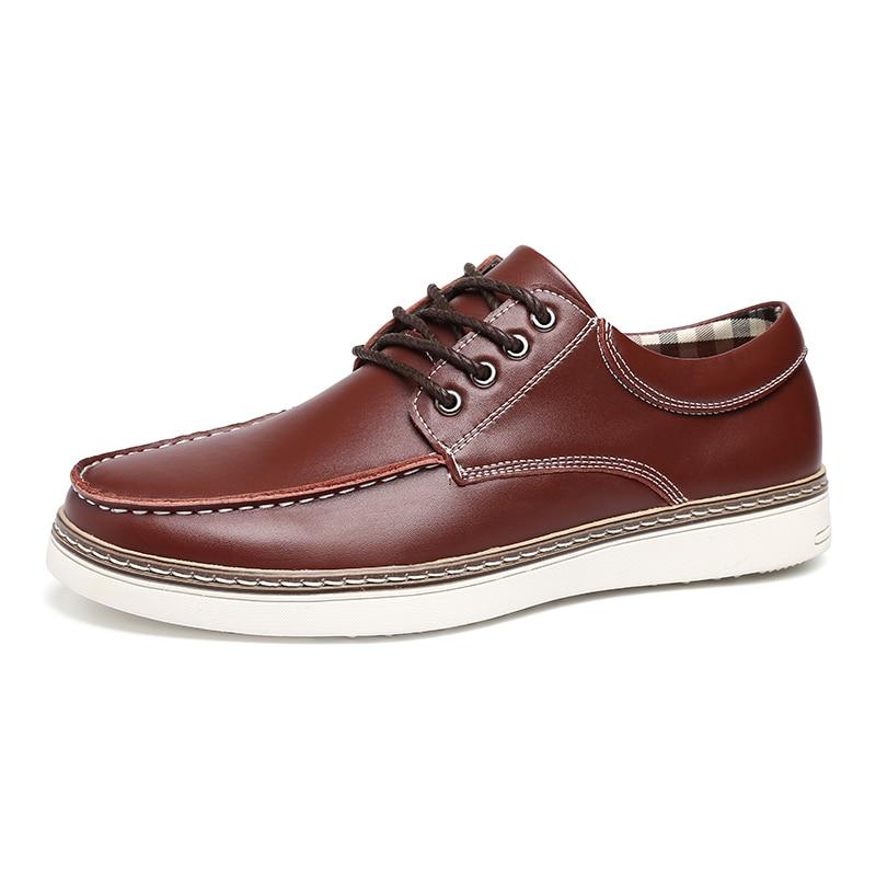 De Negócios Brown Preto azul Qualidade 2018 Confortável 47 Sapatos Casuais 39 laranja Couro Genuíno Borracha Alta Homem Antiderrapante marrom Calçados Tamanho Homens Black Yxw6wgqRE
