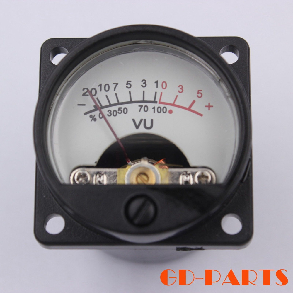 GD-PARTS 35mm DC 500uA VU Panel Meter With 12V Warm Back Light For Vintage Tube Amplifier CD Player Hifi Audio DIY