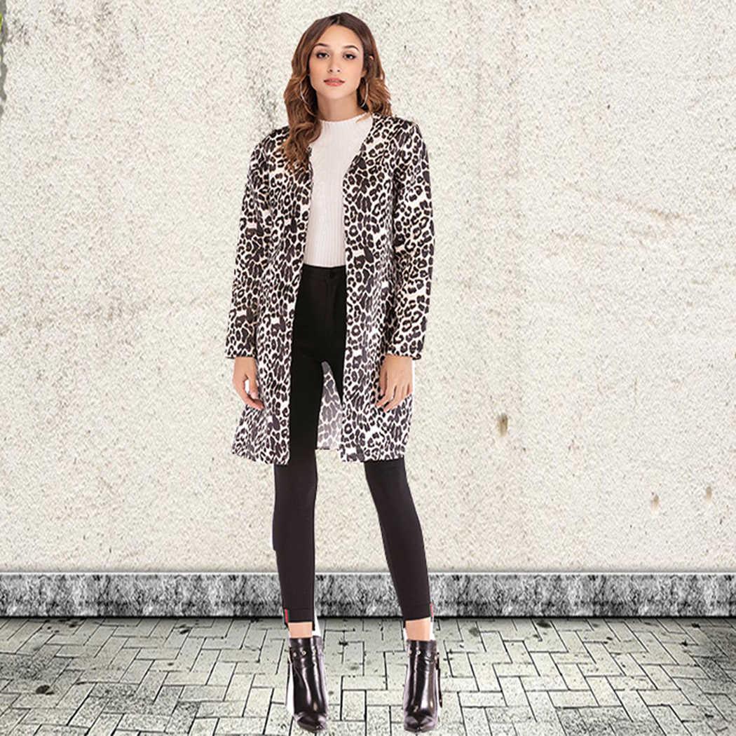 1c9bcdc59b8 ... Модные зимние куртки женская обувь пальто Осень Теплый кардиган с длинными  рукавами верхняя одежда из искусственного ...