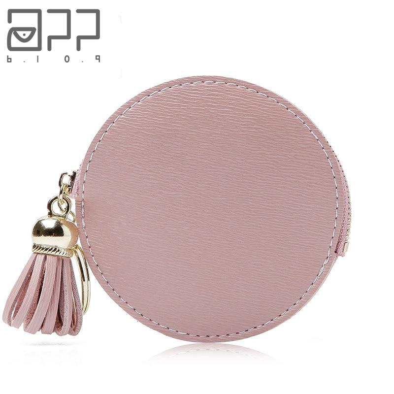APP BLOG Luxury Brand Personality Mini Women Coin Purse With Keyring Mini Tassel Zipper Clutch Card Keys Bags For Girl Femme