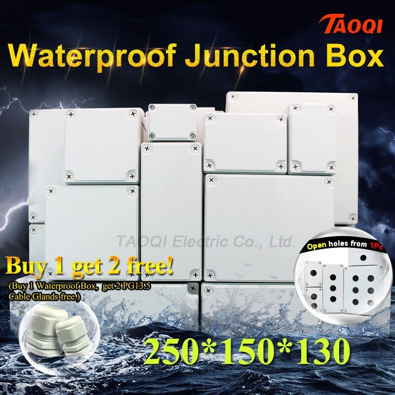 1Pcs 200x150x130 Waterproof Junction Boxes Electrical Connection Outdoor Plastic Enclosure Housing DIY Electronic Project Case title=