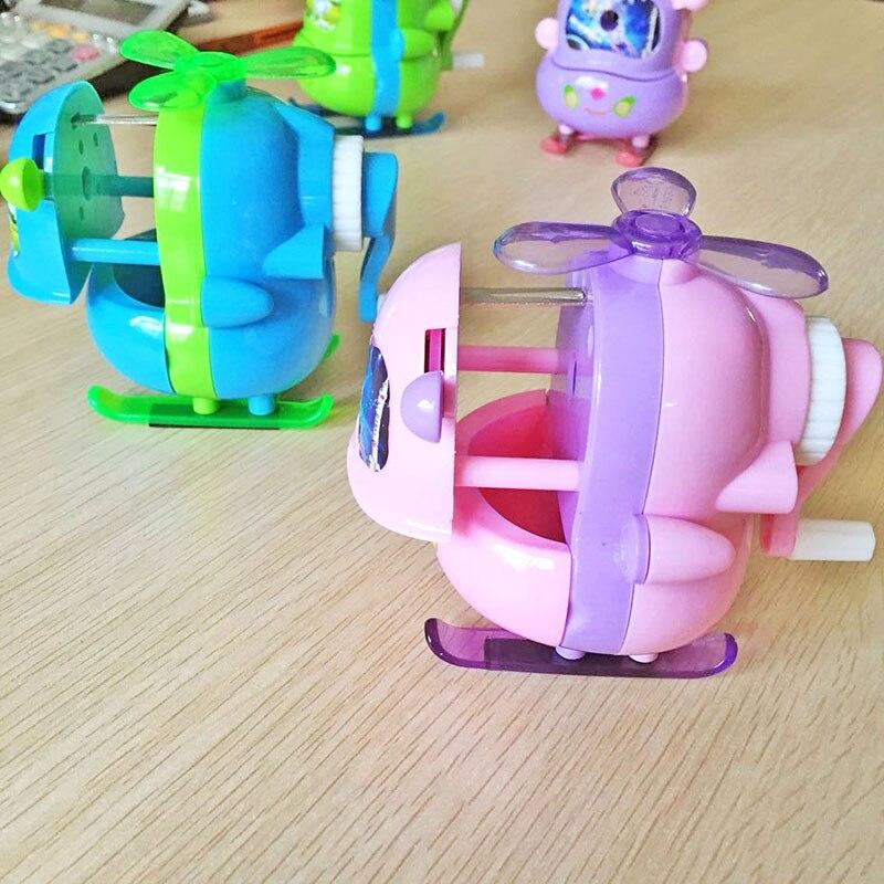 1 stks Willekeurige Cartoon Helicopter Handleiding Astronaut Puntenslijper Mode Creatieve Briefpapier Voor Kinderen Kantoor Schoolbenodigdheden
