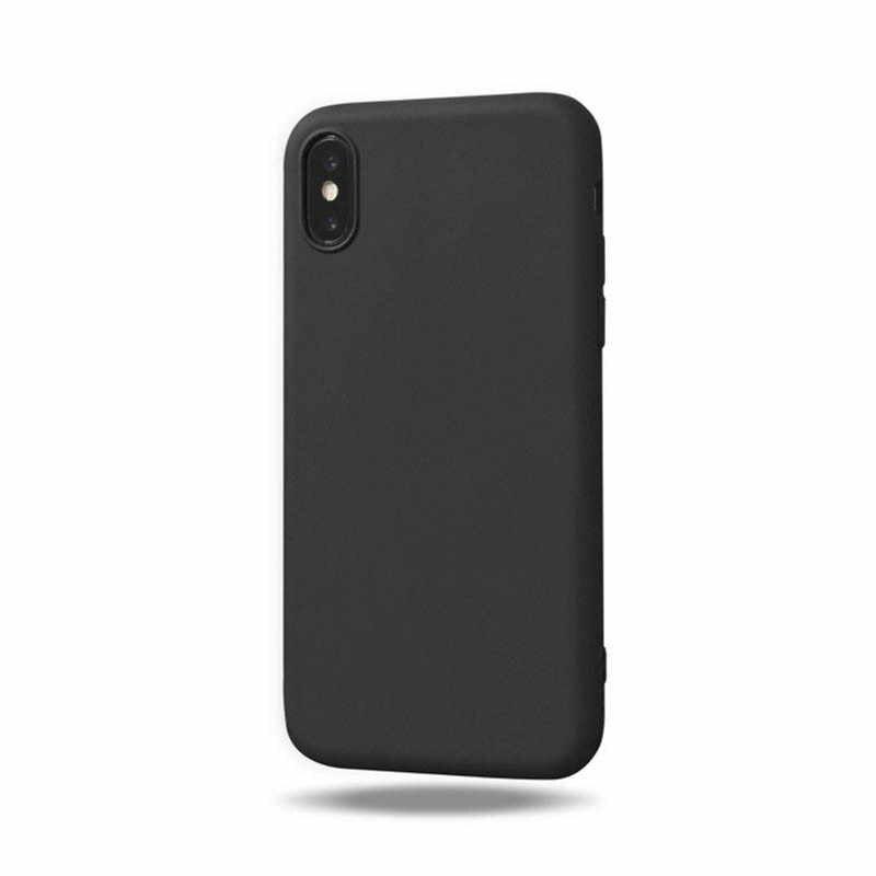 Warna-warni Silikon Penutup Belakang untuk iPhone 8 8 Plus X 7 7S 7 PLUS 5 5S SE 6 6S Ponsel Case untuk iPhone 11Pro 8 X Max XR Kasus Mewah