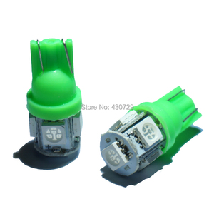 Image 2 - KTSCAR 100 unids/lote al por mayor luz led COCHE T10 W5W 194 5 LED SMD 5050 Luz de cuña lámpara bombillas exteriores de las luces 12V auto