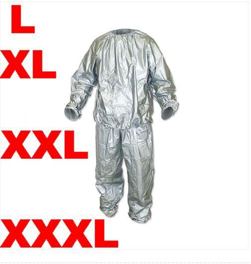 L,XL,XXL,XXXL Silver Black Sauna Sweat Suit Boxing ...