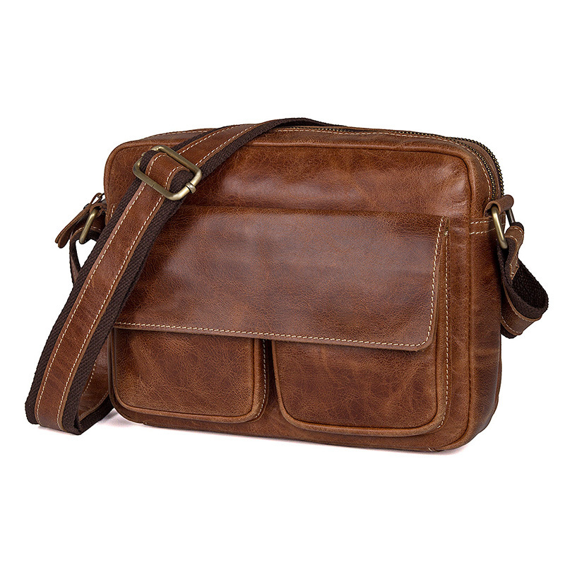 Men Messenger Bags Genuine Leather Shoulder Bag Famous Brand Business Travel Vintage Casual Crossbody Bag Male Shoulder Bags men shoulder bags genuine leather vintage male business messenger bags vogue multifunction casual travel crossbody pack rucksack