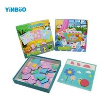 Деревянные игрушки-головоломки Ранние Обучающие головоломки детские Развивающий Пазл головоломка Танграм головоломка креативный пазл