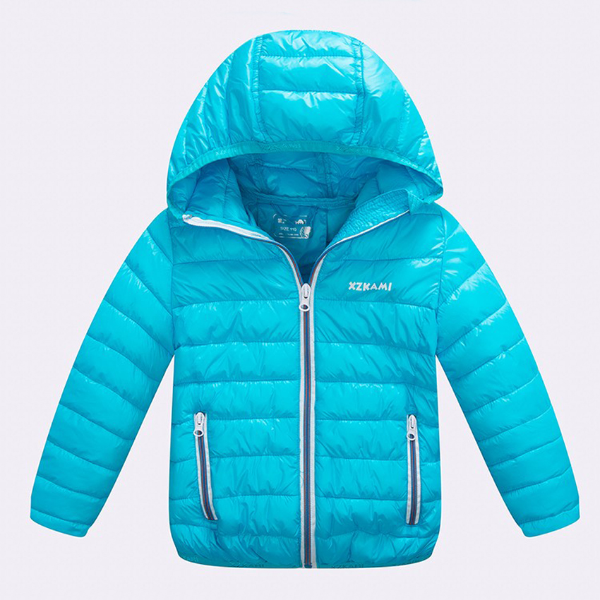 ФОТО 2016 Fashion Winter Children Jacker Cotton Boy Girl Jacket Coat Solid Hooded Thick Warm Down CoatHot Sale For 2-14T