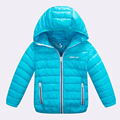 2016 Fashion Winter Children Jacker Cotton Boy Girl Jacket Coat Solid Hooded Thick Warm Down CoatHot Sale For 2-14T