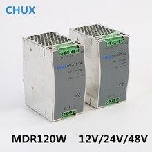 מסילת Din החלפת ספק כוח 120W 12v 24v 48v DC AC DR120W פלט יחיד LED נהג SMPS מתג שנאי