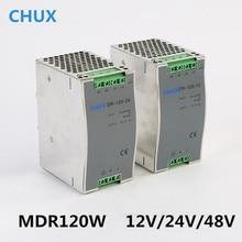 Zasilacz na szynę Din 120W 12v 24v 48v DC AC DR120W dioda led z pojedynczym wyjściem sterownik SMPS przełącznik transformatora