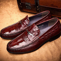 Men S Shoes Business Dress Genuine Leather Evening Dress Flat Shoes Brand Luxry Oxford Men Loafers