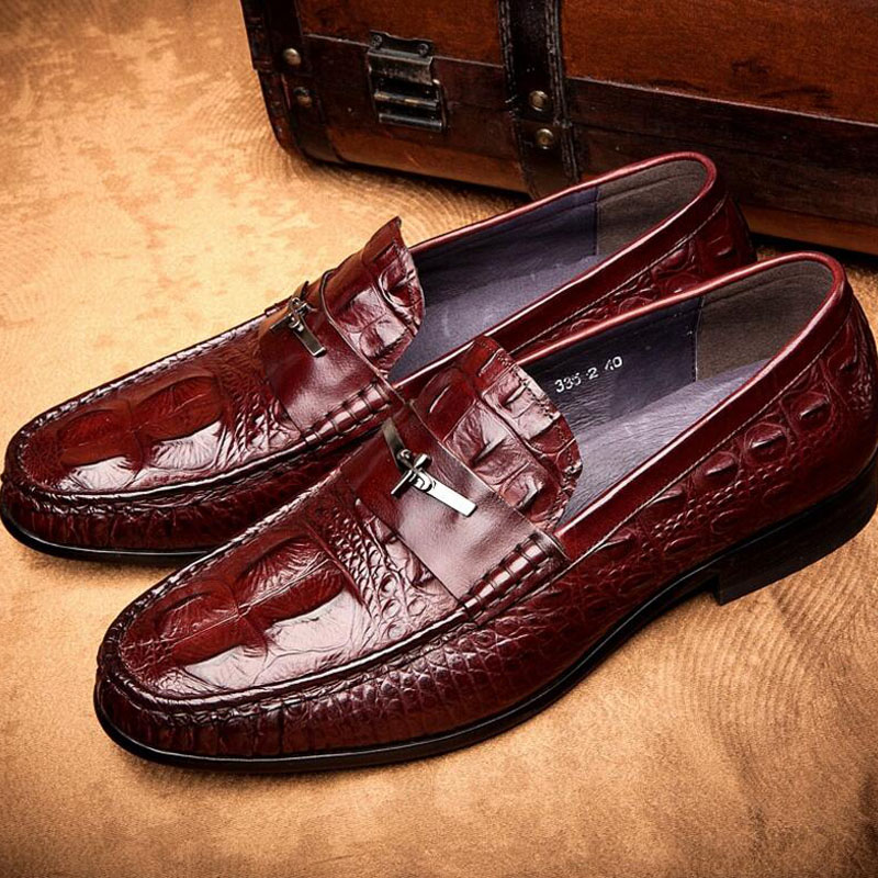 Men's Shoes Business Dress Genuine Leather Evening Dress Flat Shoes Brand Luxry Oxford Men Loafers Wedding Leather Shoes high quality men shoes crocodile genuine leather flat shoes business luxury wedding mens leather loafers oxford zapatos hombr