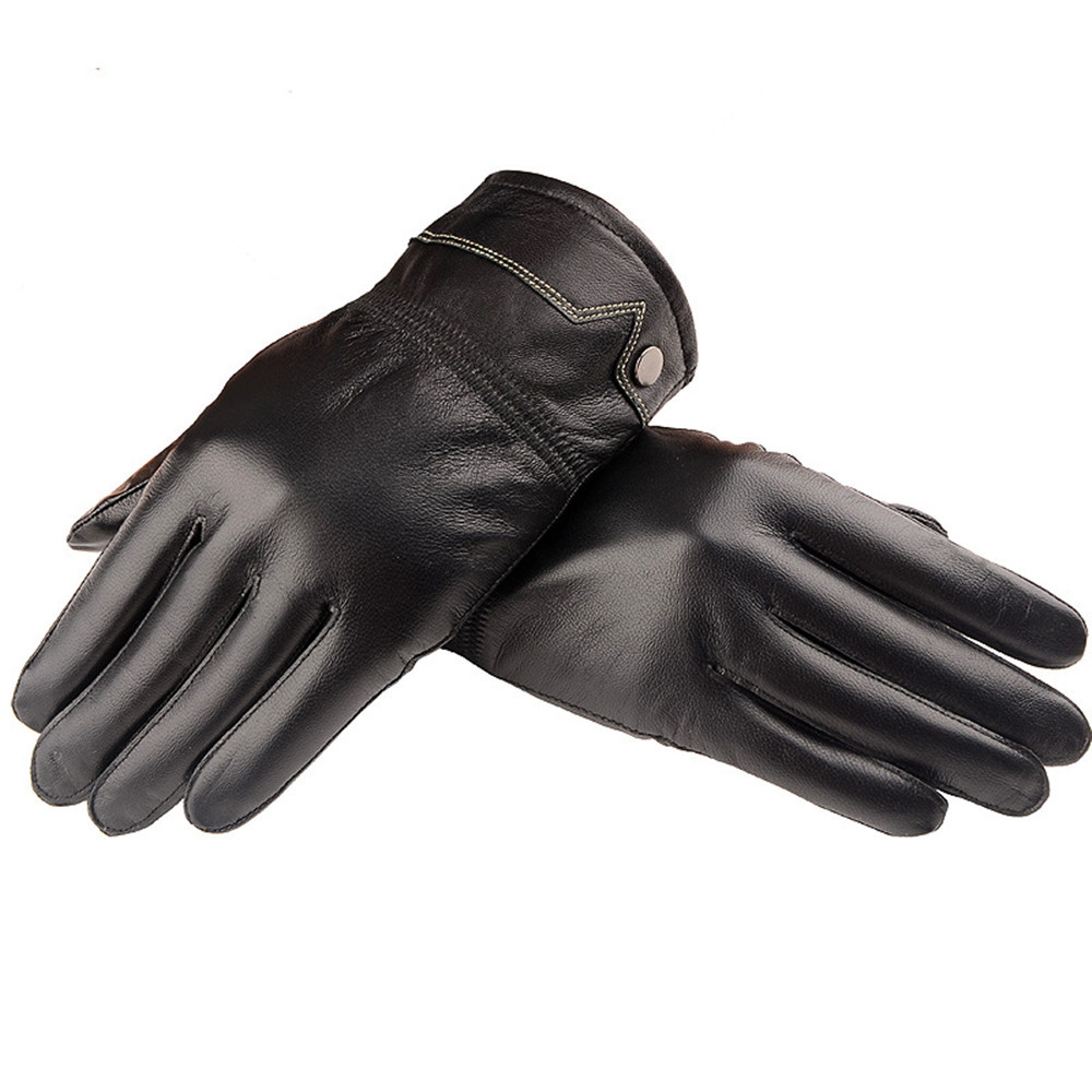 Mens gloves use iphone - Hot Sale Leather Develops Natural Patina With Use Fashion Men S Autumn Winter Warm Leather Gloves Lambskin