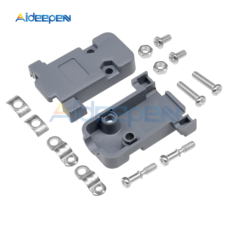 5Pcs/lot DB9 2 Row 9 Pin <font><b>DB15</b></font> 3 Row <font><b>D</b></font>-<font><b>Sub</b></font> 15 Pin Plastic Hood Cover Connector For DB DB9 <font><b>DB15</b></font> Plastic Case image