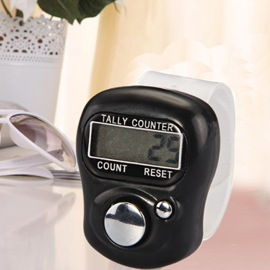Digital Manual Counter FingerRing Tally Counter 5-Digit Ring Tally Digit LCD Electronic Counter With Battery 0-99999