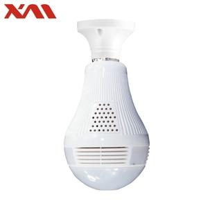 Image 1 - Fisheye caméra de surveillance intérieure IP WiFi HD, dispositif de sécurité domestique, panoramique 360 degrés, ampoule E27, Vision nocturne