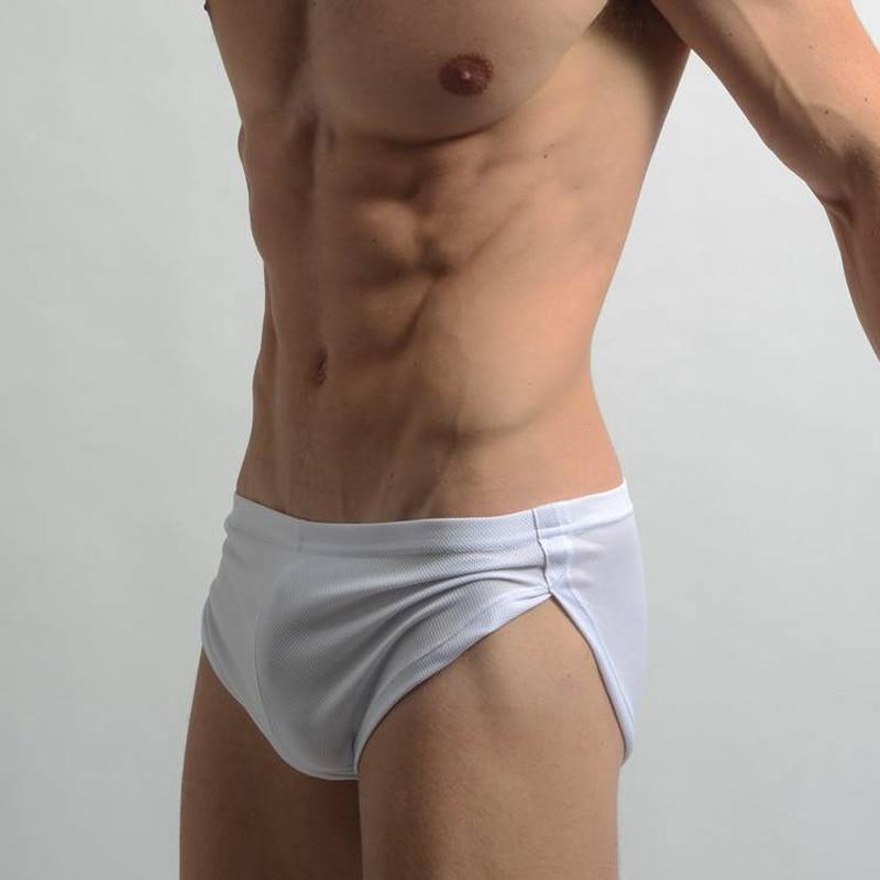 Brand Sides Split Sexy Low Waist Mens Pajama Shorts Polyester Men Homewear Sleep Bottoms For Man Breathable Elastic Waist Briefs