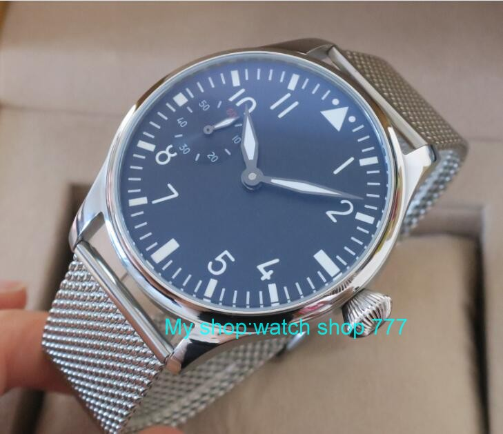 44mm PARNIS ST3600/6497 Mechanical Hand Wind movement Mechanical watches luminous men's watches wholesale o17 44mm parnis st3600 6497 gooseneck mechanical hand wind movement mechanical watches men s watches wholesale o22