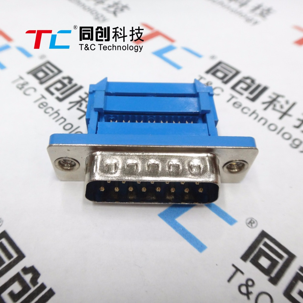 5pcs DB15 15 Pin Male Parallel IDC Crimp Connector for Flat Ribbon ...