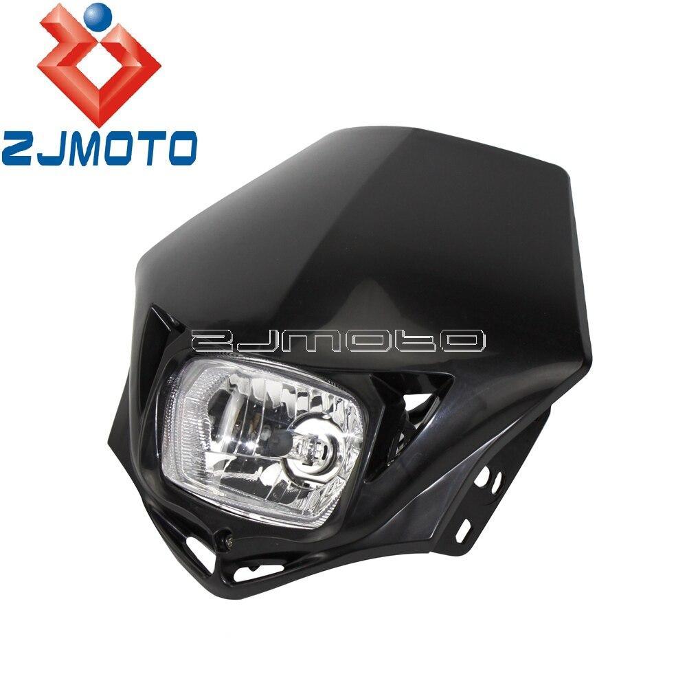 Universal Motocross Enduro 35W Headlight Fairing For KTM Kawasaki Honda Yamaha Suzuki XT YZ EXC XC Dirt Pit Bike Headlight Mask
