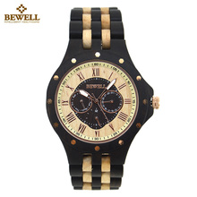 BEWELL Wooden Watch for Men Unique Business Design Wood Watches Men Top Luxury Quartz Watches With box saat relogio masculino