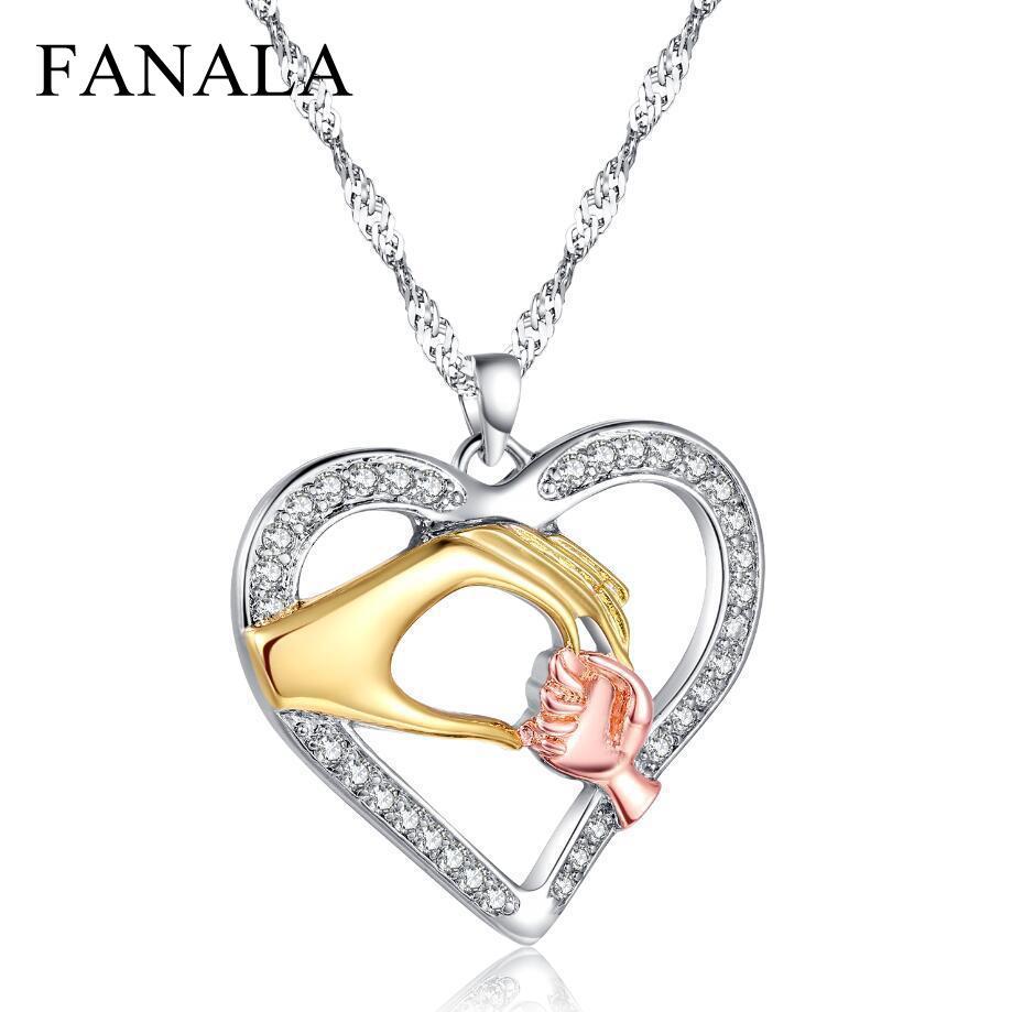 Fashion Necklace Women Choker New Heart Shape Charm Link Chain Necklaces Pendant Fashion Jewelry