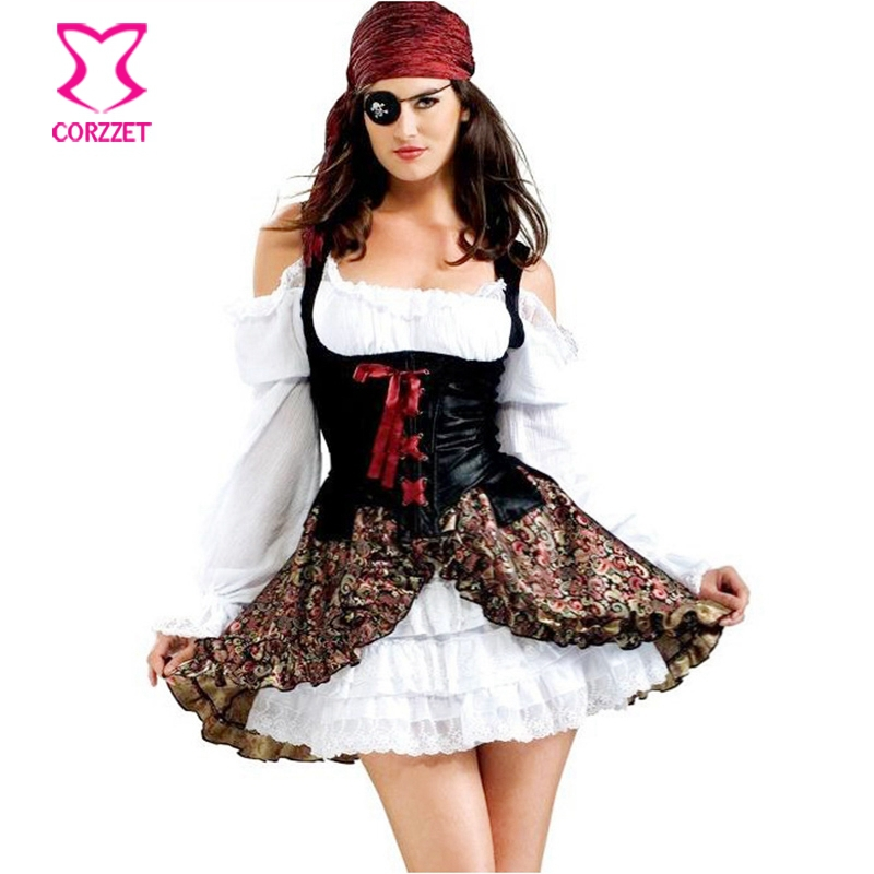 Carnival Party Games Role Play Pirate Costume Adult Plus Size Sexy
