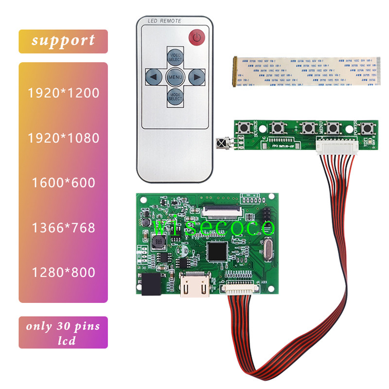 HDMI EDP Lcd Controller 30pin Board Universal Support 1280*800 1920 *1200 1920 *1080 1600*900 1366 *768 Display For Raspberry Pi