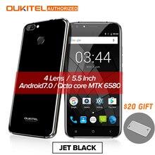 Oukitel Mobile U22 Smartphone 3G 4 Caméra Pousses 5.5 pouces Android 7.0 2700 mAh FHD MTK 6580 Quad Core 13MP Retour Caméra 2 GB + 16 GB
