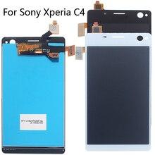 """AAA 5.5 """"Para Sony Xperia C4 E5303 E5353 E5333 5.5"""" Com bo LCD touch screen display para Sony xperia C4 peças de reparo do telefone móvel"""