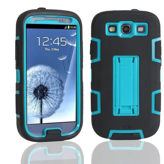 wholesale dealer 3ee52 0406c US $4.99 |For Samsung Galaxy S3 Neo Case Silicone Colorate Cover Stand  Phone Cases For Samsung galaxy S3 Case Shockproof 3 in 1 Back Cover-in ...