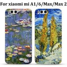 For xiaomi mi A1/6/Max/Max2 case back cover cute flower silicone Soft shell for xiaomi mi Max 2 cases miA1 phone case cover