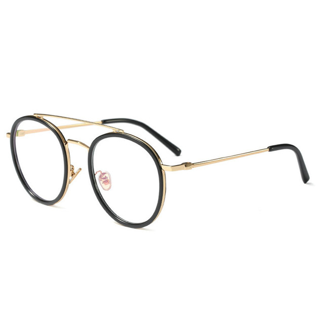 Big Frame Round Eyeglasses Clear Lens Women And Men Prescription ...