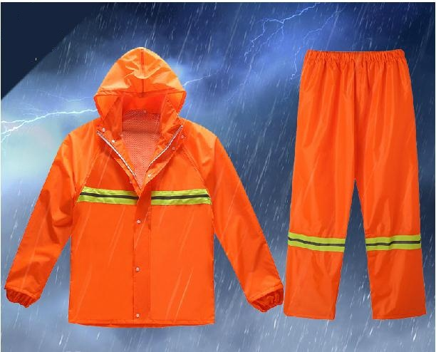Reflective raincoats the new vests Fission raincoat rain pants suit Waterproof outdoor labor insurance overalls  reflective raincoat rain pants waterproof single raincoat men and women for riding working free shipping