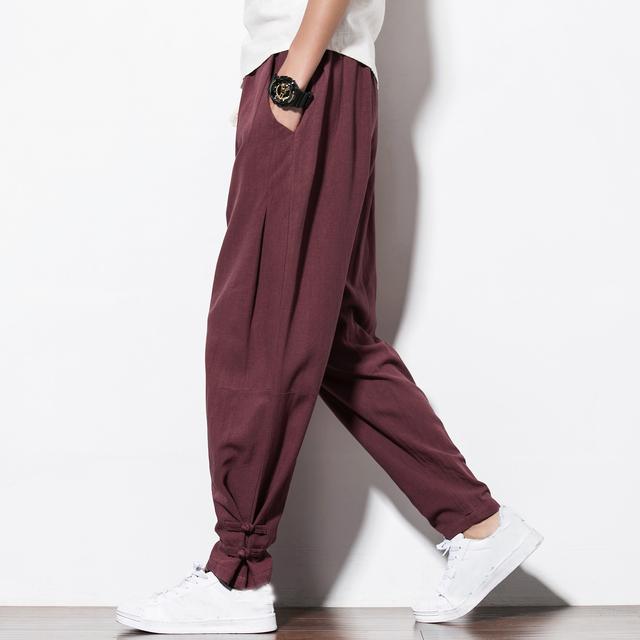 Pantalones de Lino Para Hombres