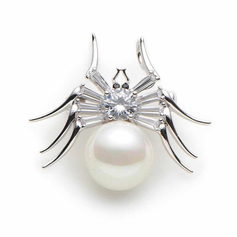 Spider Full Strass Imitation Pearl Broche pins Col Broche Écharpe Clip